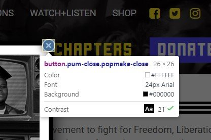 """With inspector tool, click on the popover's """"X"""" button"""
